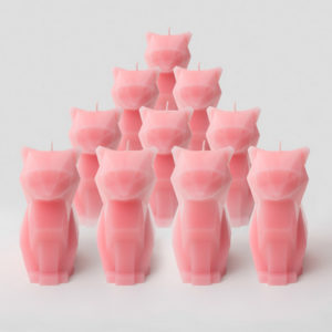 Army of cat candles