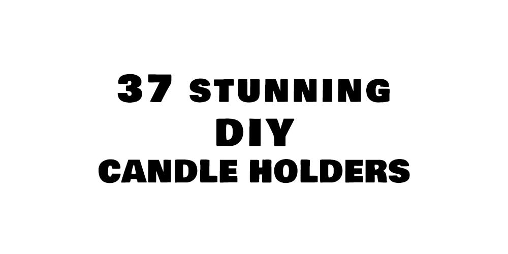 diy candle holders featured image