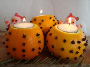 orange candle holder thingies