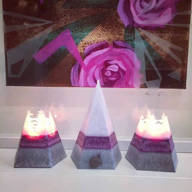 lavender pyramid candle