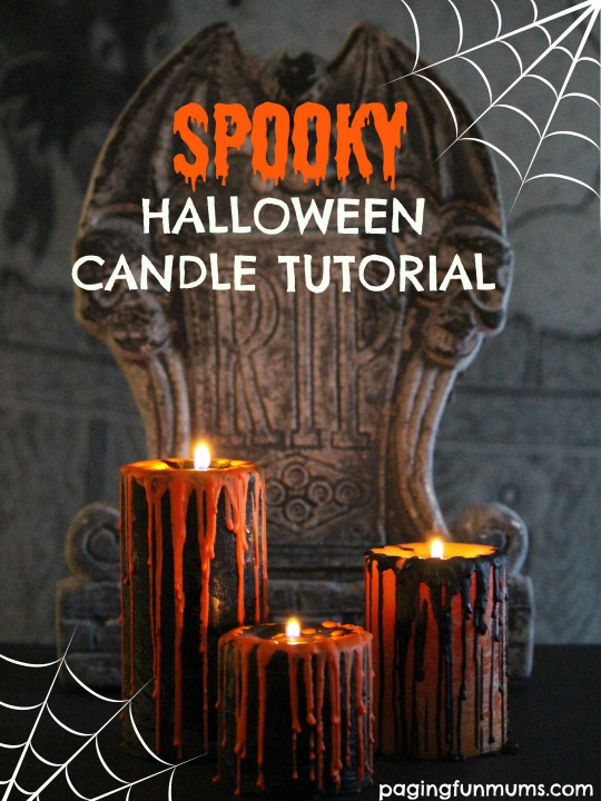 spooky halloween candle tutorial