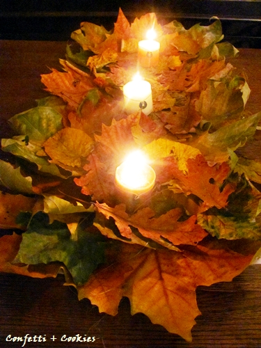 fall leaves centrepiece