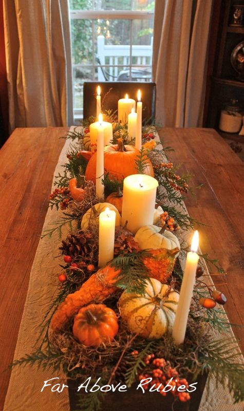 fall long box centrepiece
