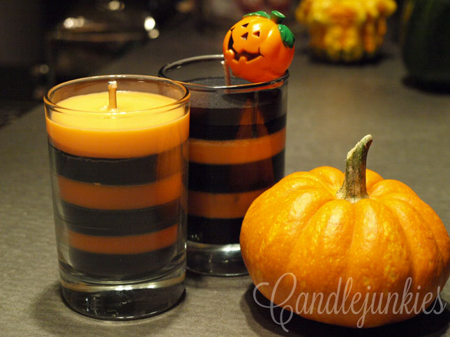 finished halloween candles