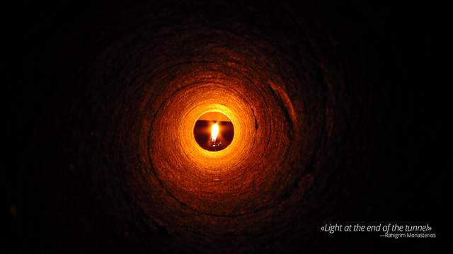a light at the end of the tunnel