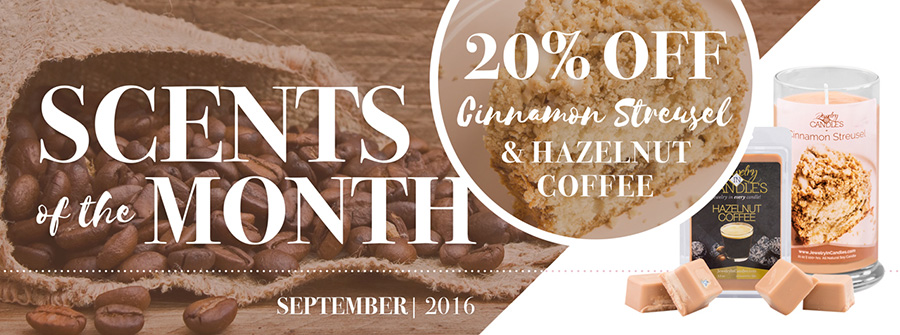 Jewelry In Candles Scent of the Month September
