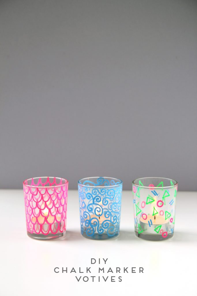 DIY Chalk Marker Votives