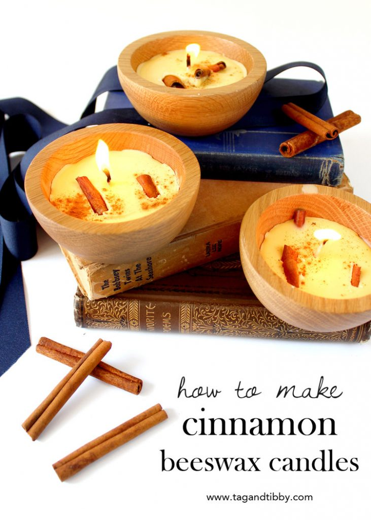DIY Cinnamon Beeswax Candles