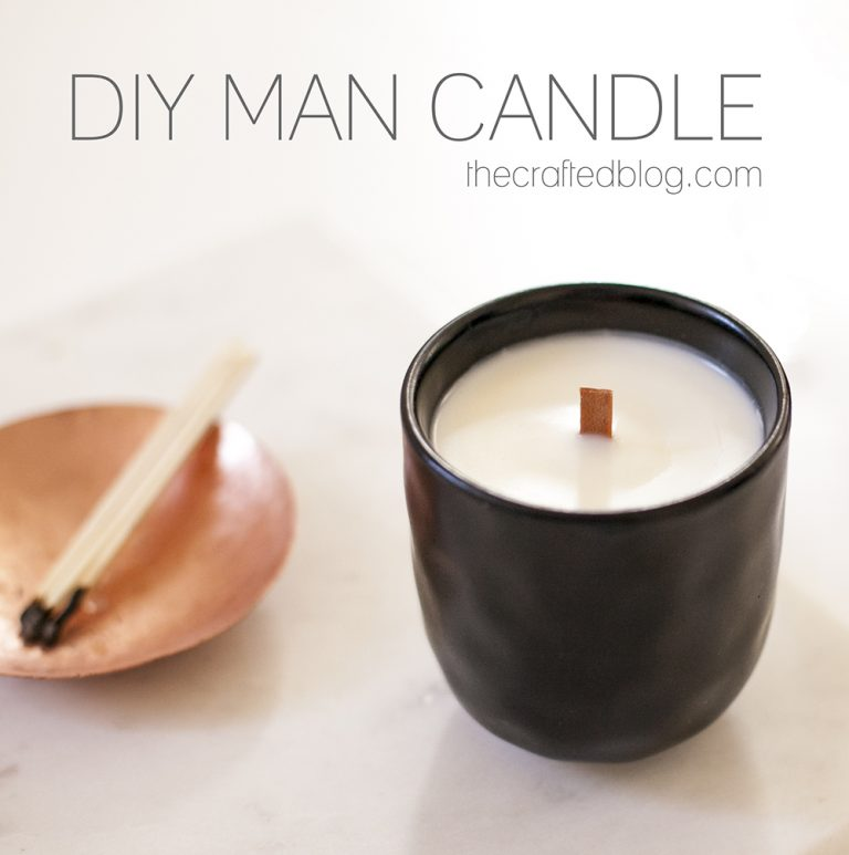 DIY Man Candle