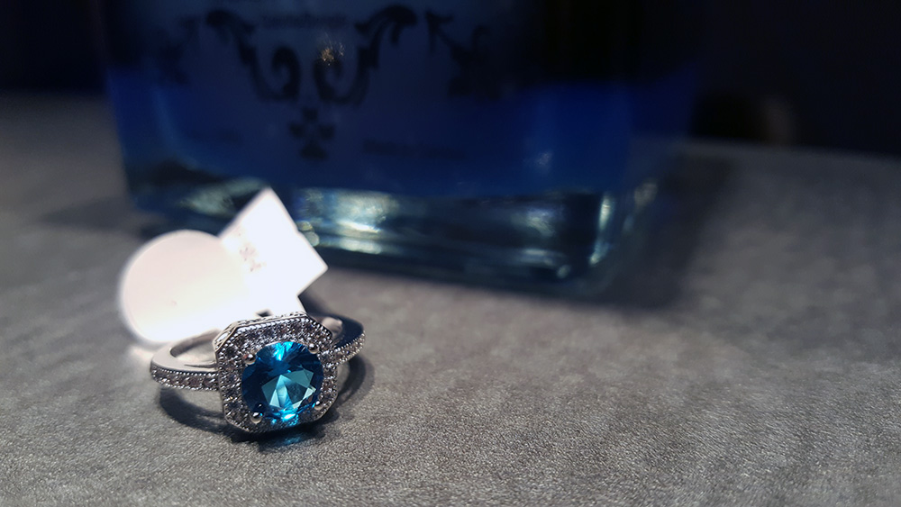 ice n fire white gold cubic zirconia ring