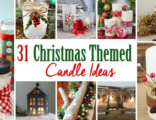 31 Christmas Themed Candle Ideas
