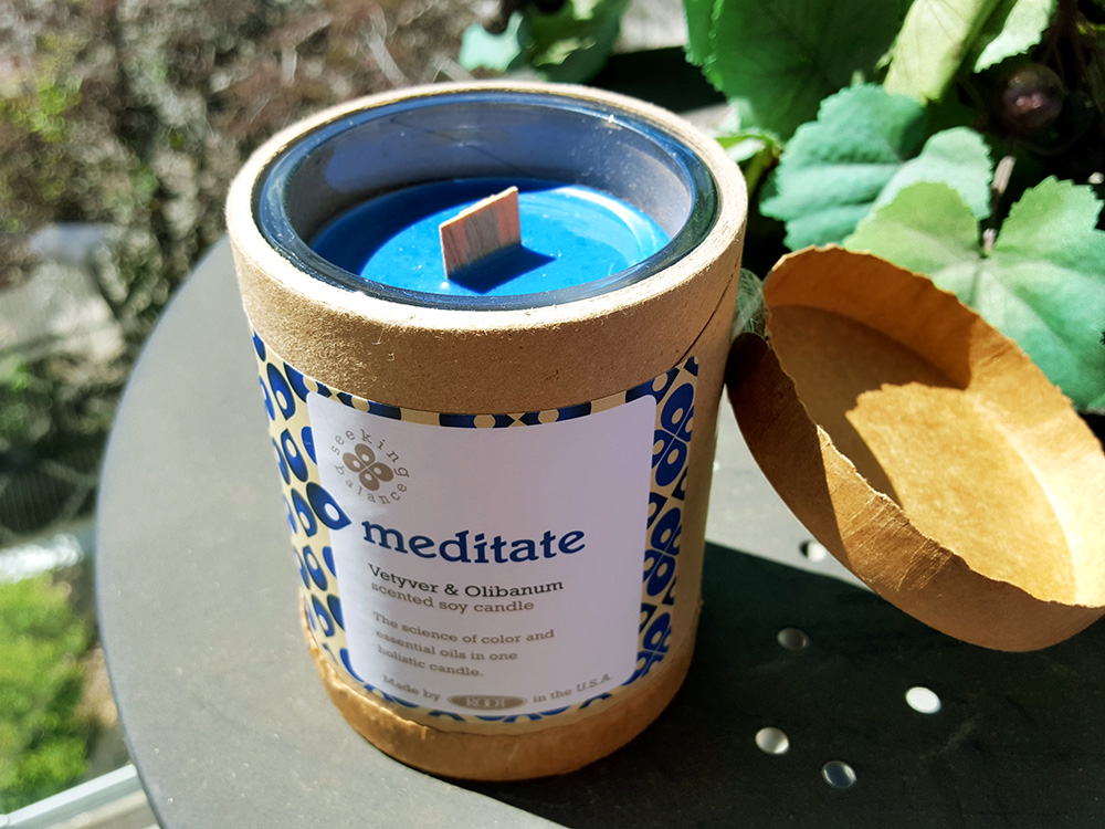 Root Candles: Meditate, Vetyver and Olibanum Scent, From the Seeking Balance Line Review