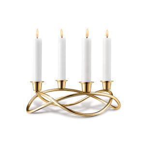 gold plated taper candle holders