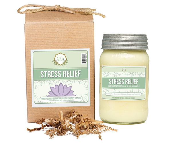 aira stress relief candle