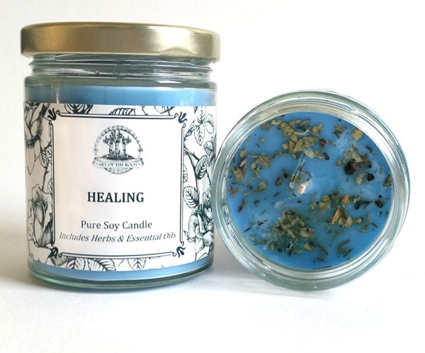 art of the root healing soy candle