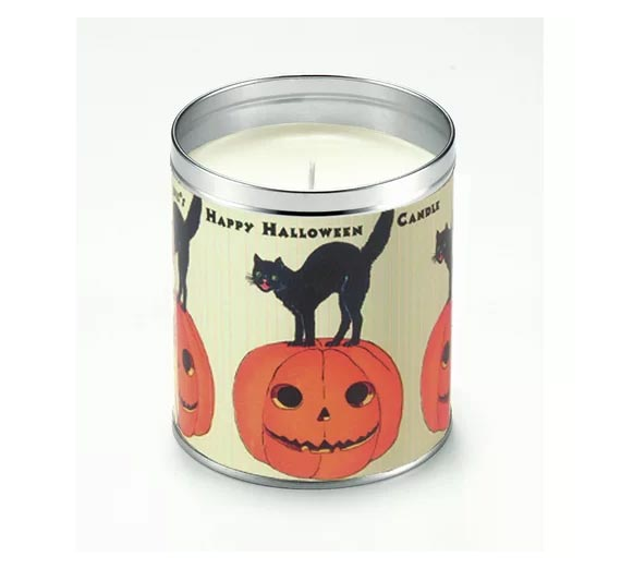 halloween cat candle