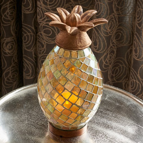 pineapple candles and pineapple candle holders