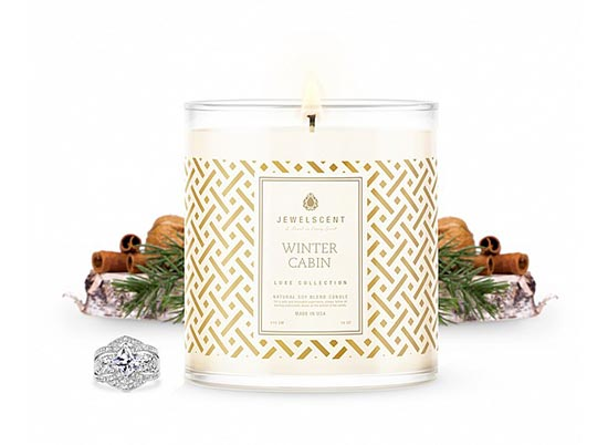 JewelScent Winter Cabin Best Christmas Candles