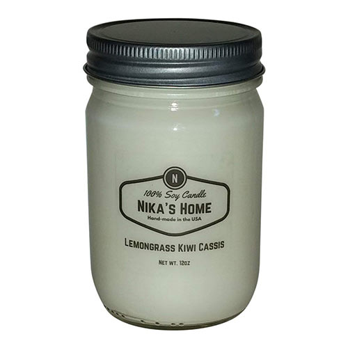 Nika's Home Best Soy Candles On Amazon Lemongrass Kiwi Cassis