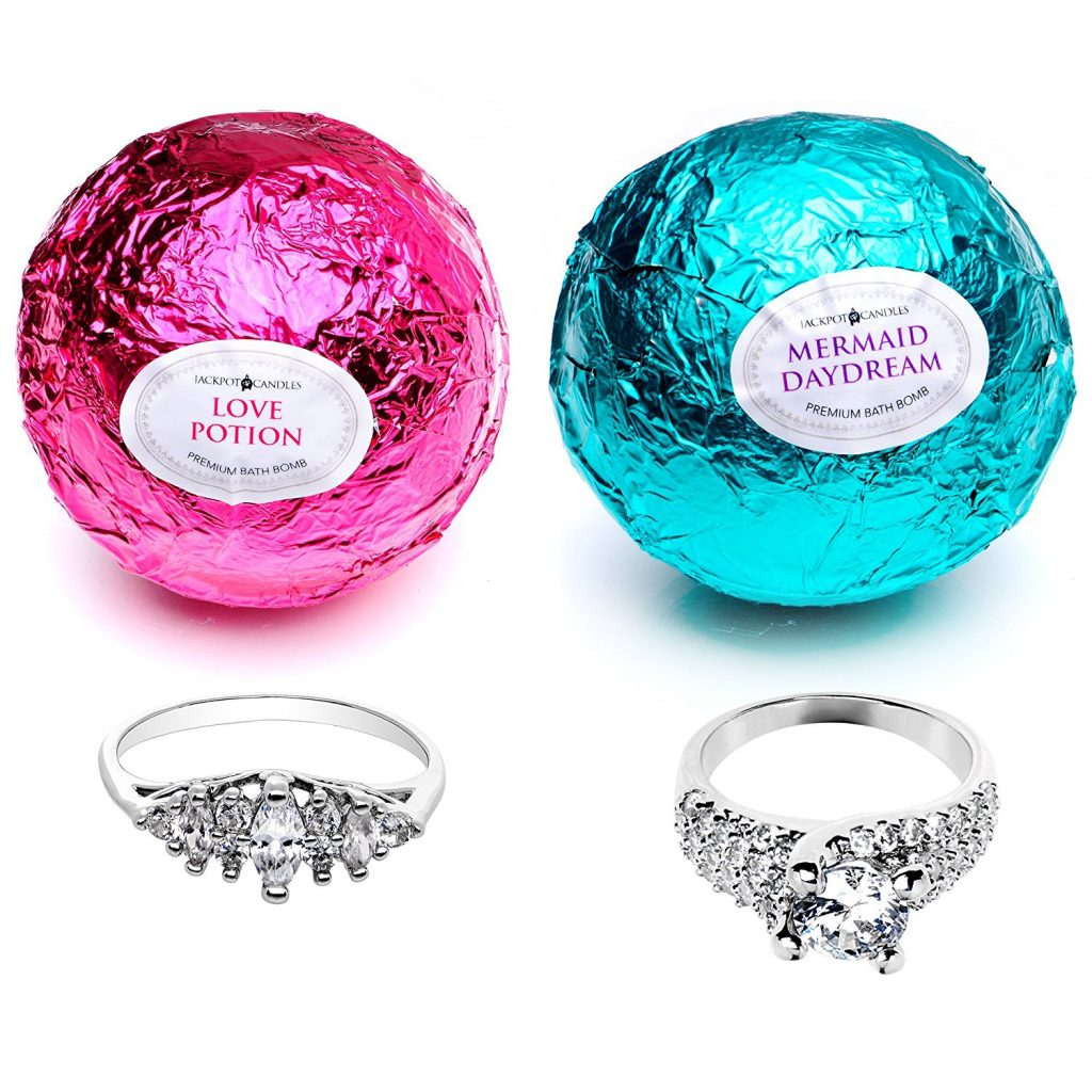 Mermaid And Love Potion Ring Bath Bomb Set Jackpot Candles