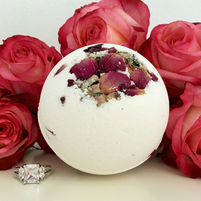 Pearl Bath Bombs Morning Rose Jewelry Bath Bomb