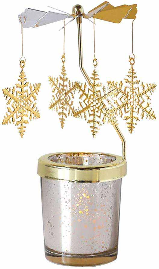 gold snowflake chime