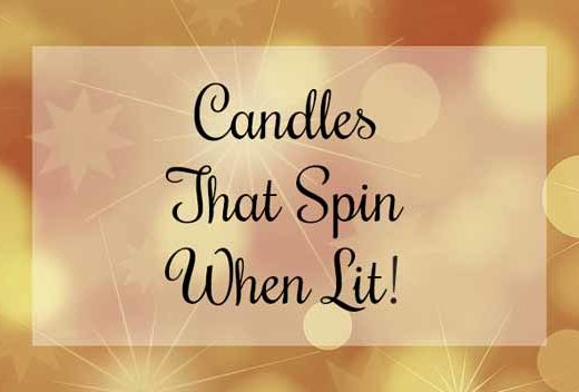spinning candle holders banner