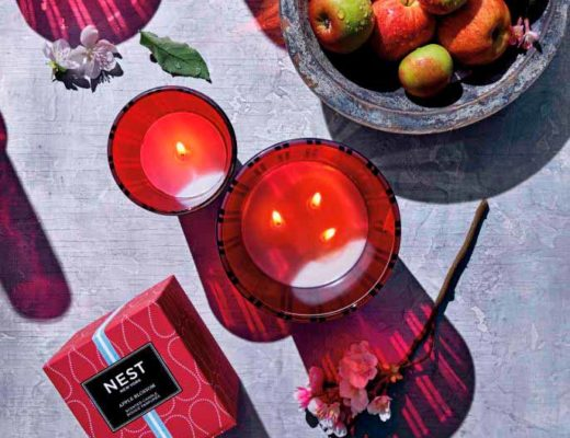 nest candle for autism awareness apple blossom