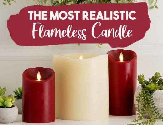 most realistic flameless candle