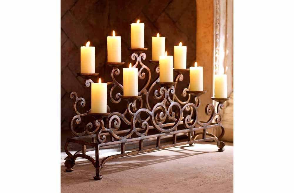 Tiered Candle Holders For In Fireplace