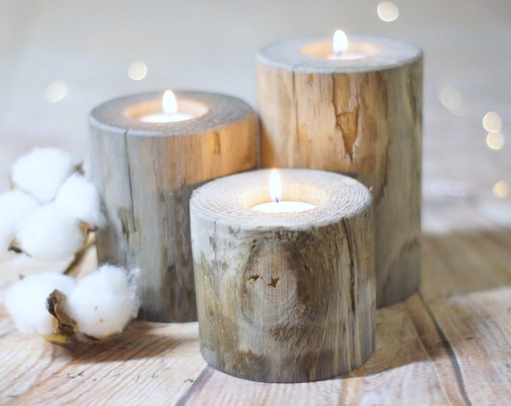 10 Distressed Wooden Candle Holder Ideas Diy Baba Love Organics