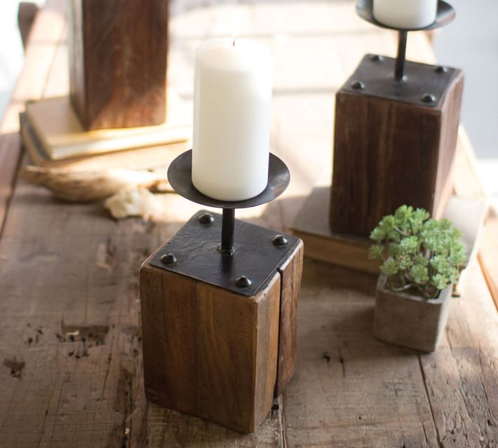 16 Distressed Wooden Candle Holder Ideas Diy Candle Junkies
